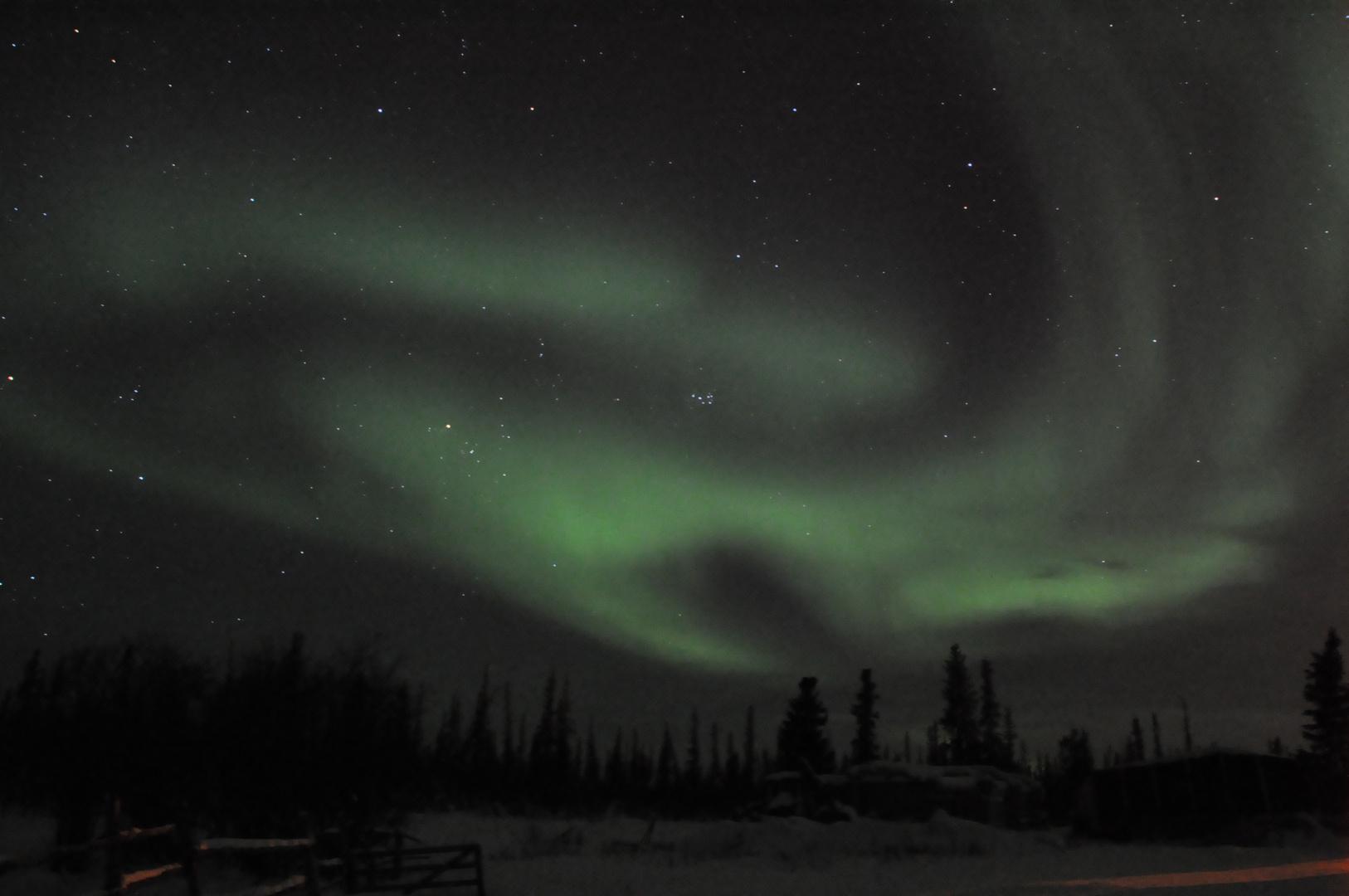Polarlichter in kanadischer Arktis