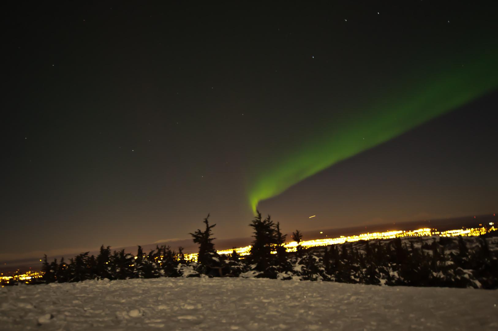 Polarlichter über Anchorage