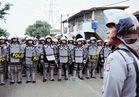 police barricade