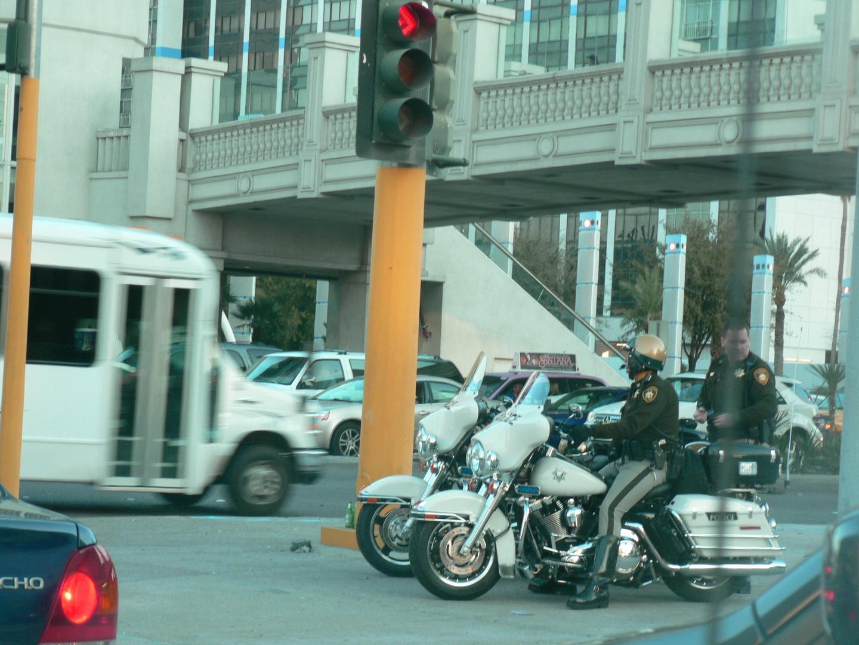 Police on Harley Davidson