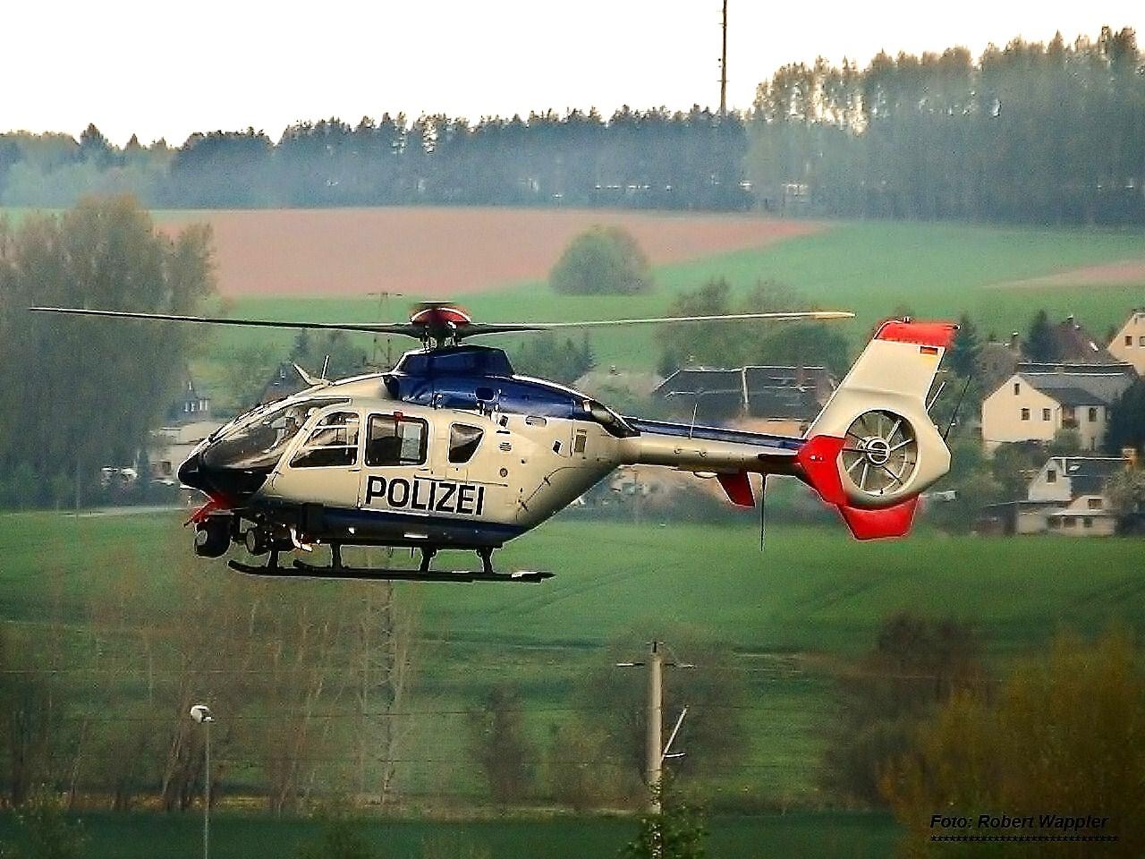 Polizeihubschrauber der Hubschrauberstaffel Dresden