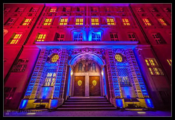 Polizeipräsidium München im Advent 2015