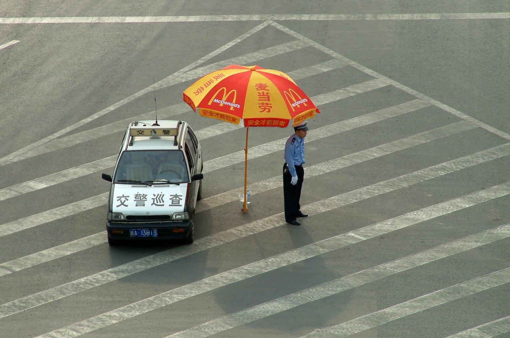 Polizist in China