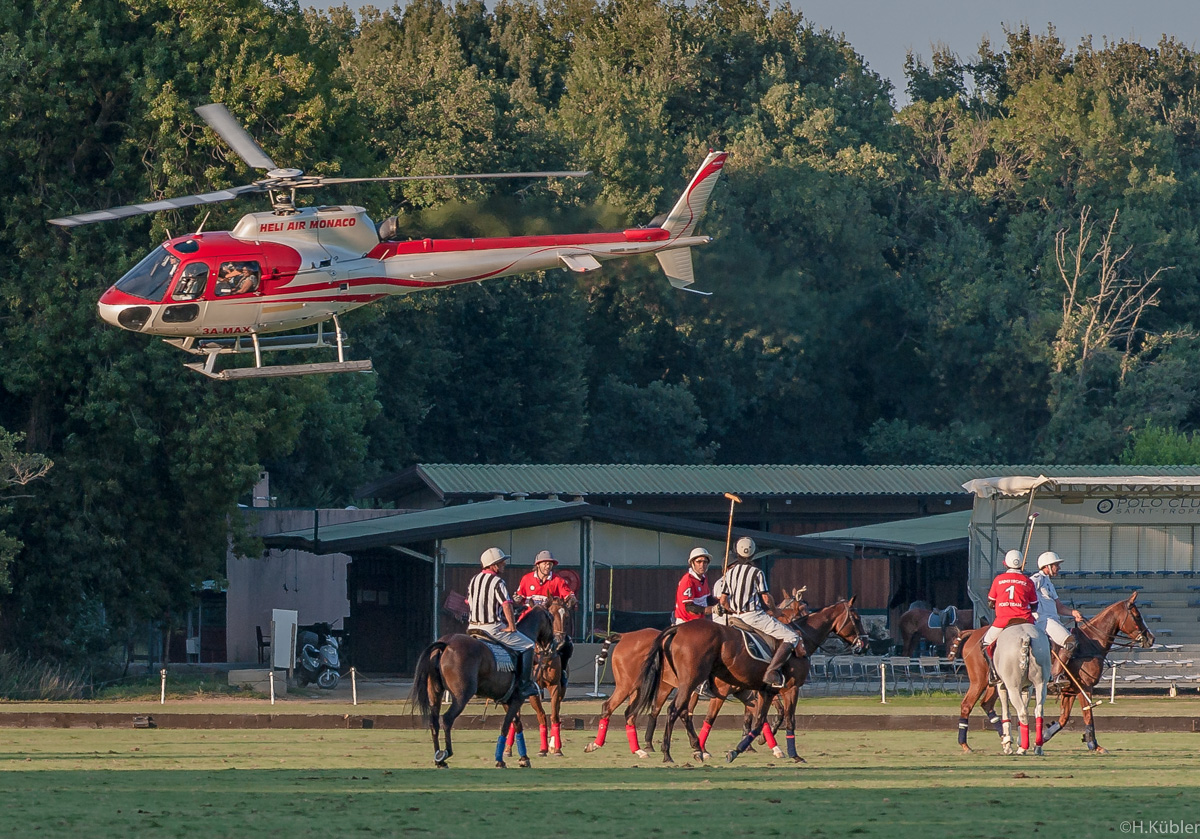 Polo mit Helikopter