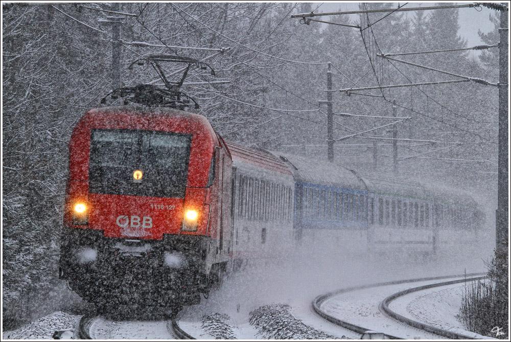 Polonia im Schneesturm