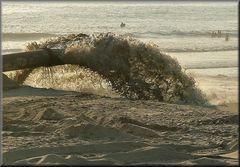Pompeggiare  acqua e sabbia..