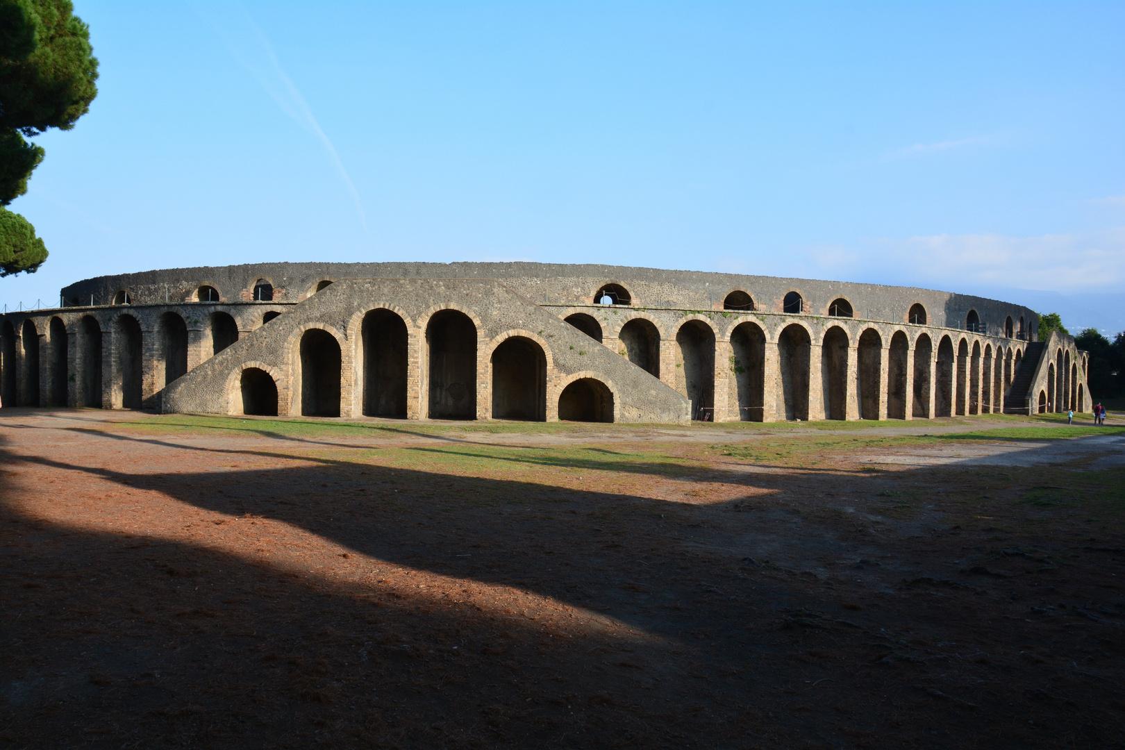 Pompeji Amphitheater im November