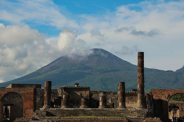 Pompeji vor dem Vesuv