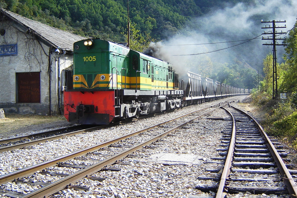 Ponferrada - Villablino railway. Northern Spain.
