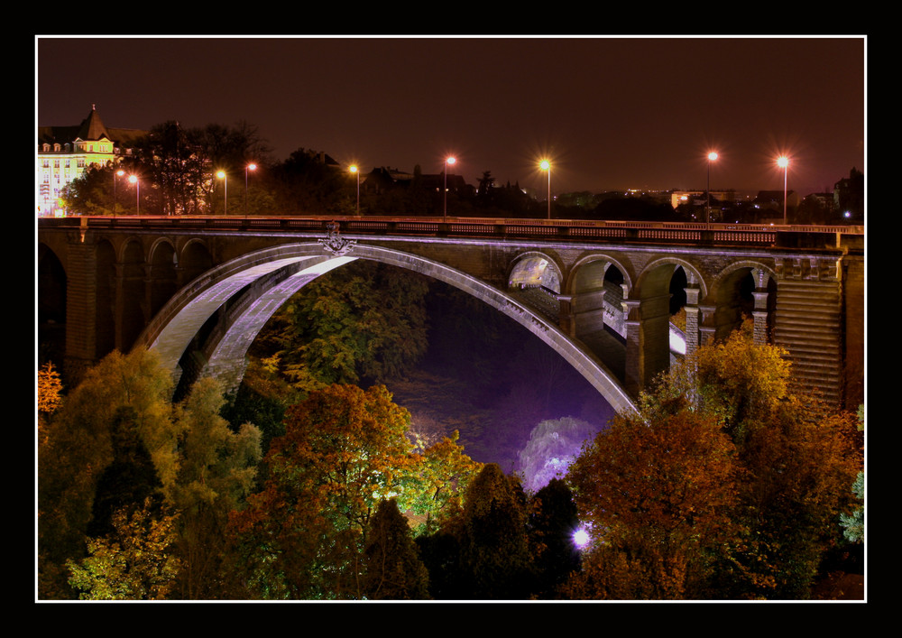 Pont-Adolphe , Luxemburg ... by night!