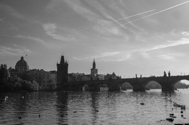 Pont Charles - Prague - NB