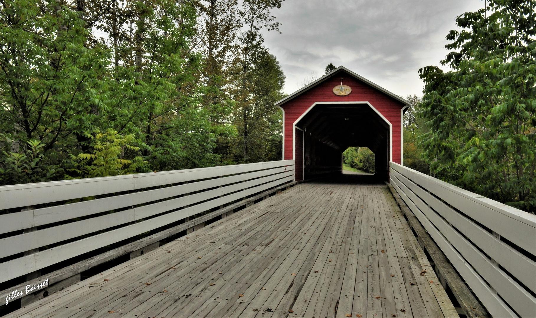pont couvert sur la route de....Matapédia !