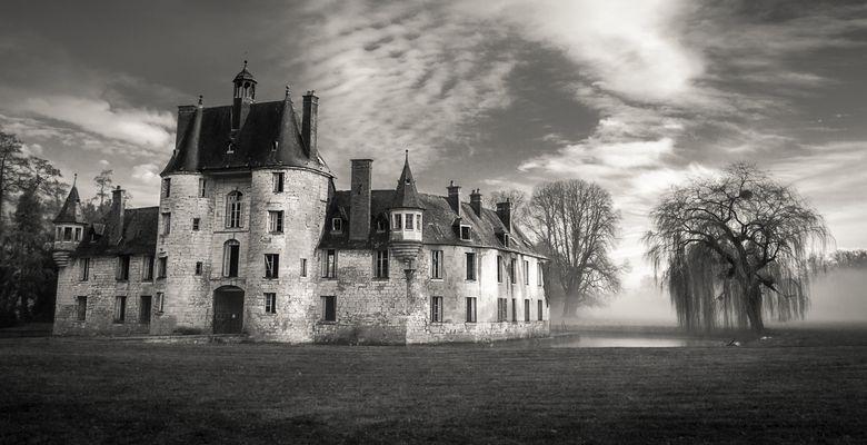 Pont-Saint-Pierre Castle In The Mist