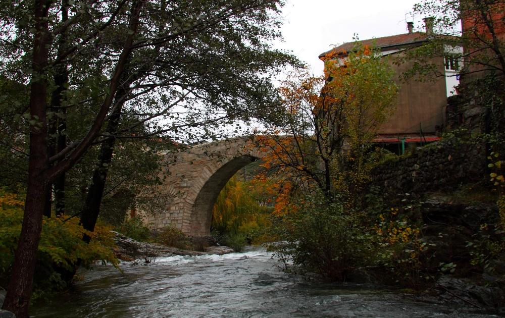 Pont st jean en automne ( 14eme siecle )
