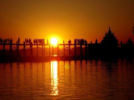 Pont U Bein à Mandalay