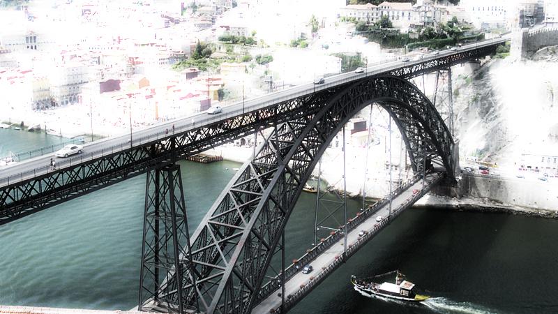 Ponte Don Luis I-Oporto (Portogallo)