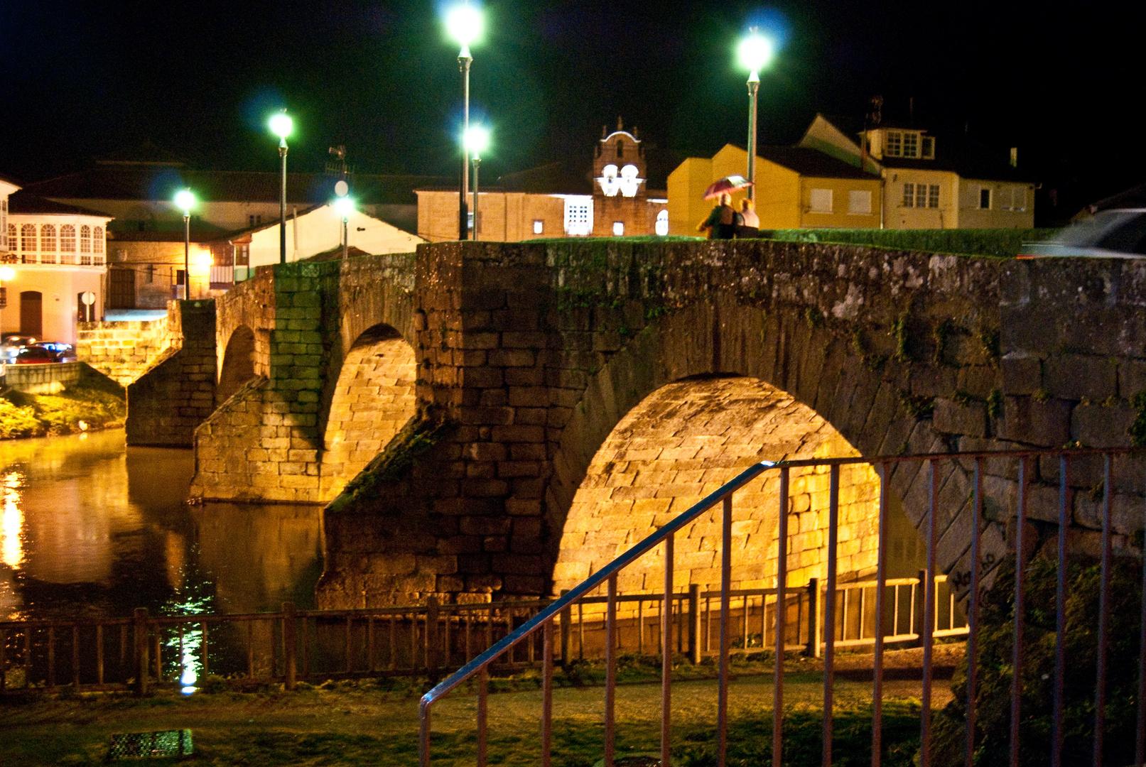 Ponte romana de noite