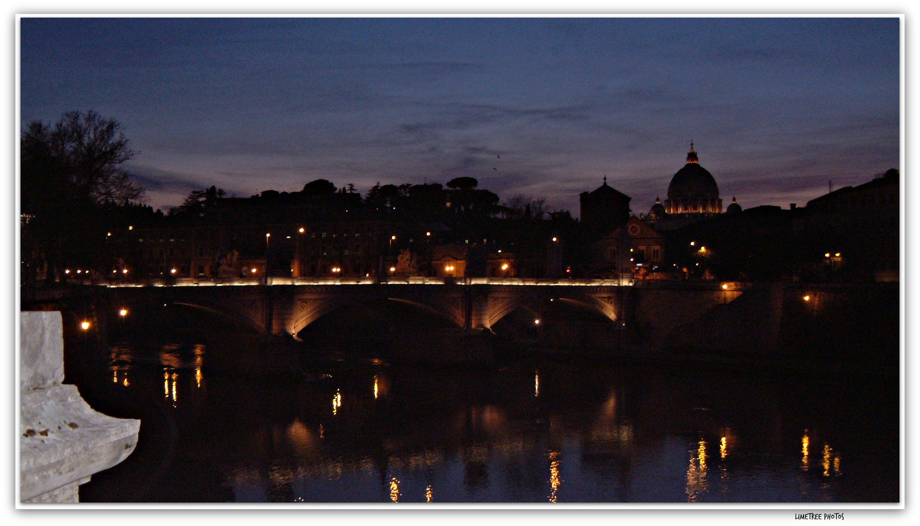 Ponte S. Angelo in the Night