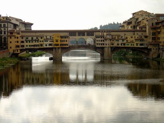 Ponte Vecchio, Florence, in the early morning