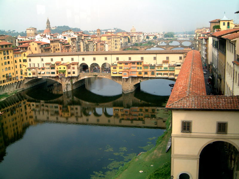 Ponte Vecchio mit Coridoio Vasario
