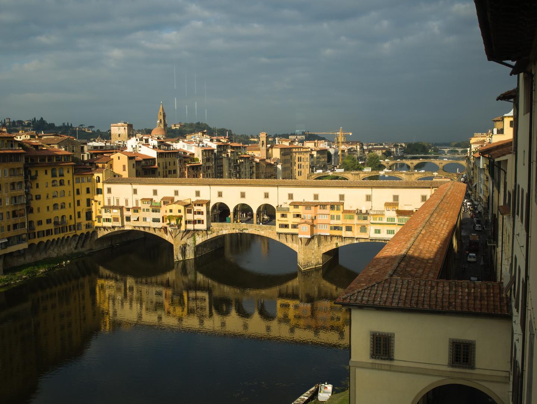 Ponte Vecchio von den Uffizien aus gesehen