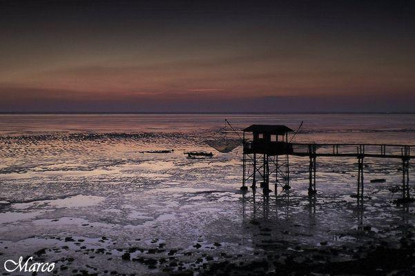 ponton carelet à marée basse