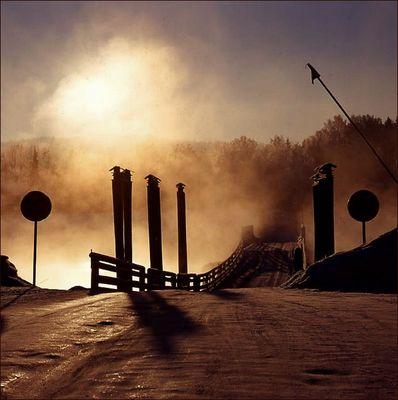 Pontoon bridge, Gagnef, Sweden