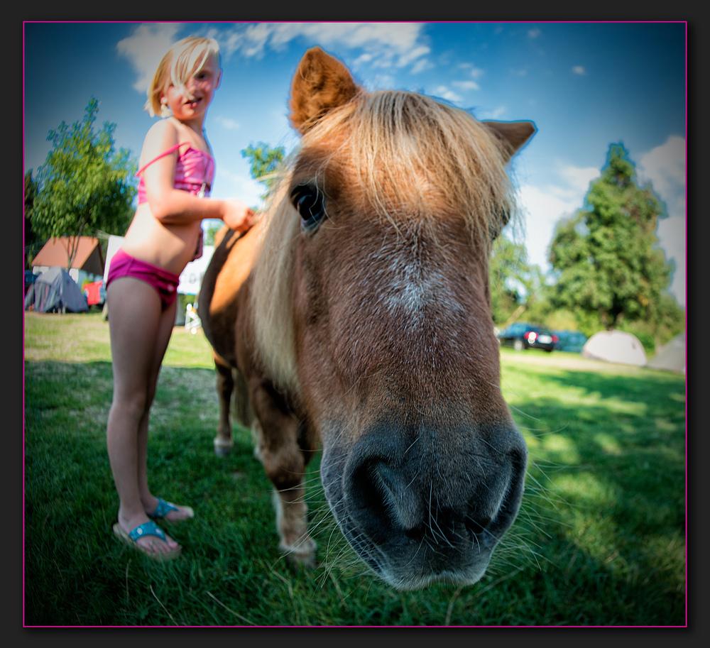 Ponyschnäuzchen mit Wirbelwind