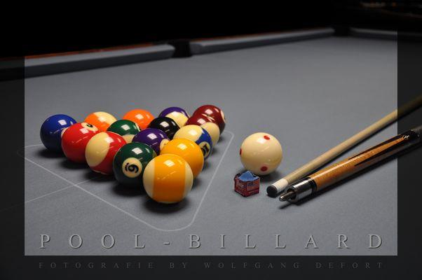 Pool-Billard, kurz vor dem Break