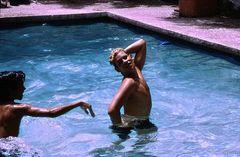 Pool posing
