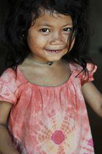 Poor Cambodian girl
