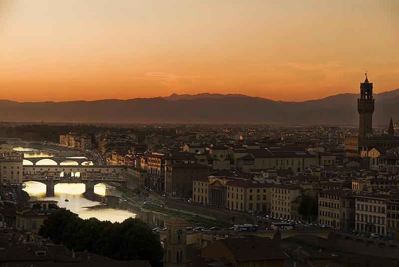 Por do sol em Florença