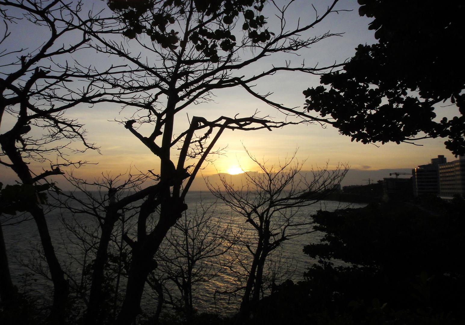 Pôr do Sol-Em Salvador no Oton -