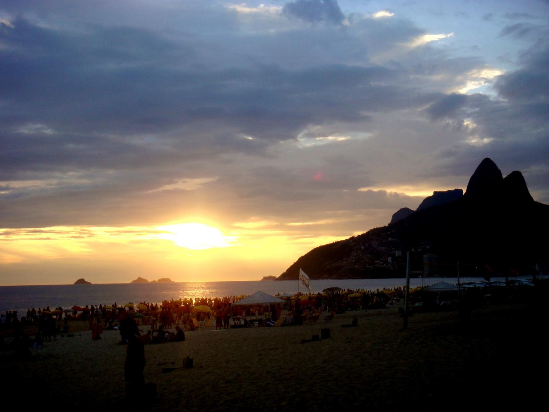 Por do Sol no Rio de Janeiro- Praia Do Leblon