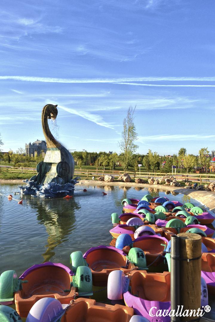 Por el parque europa sacando colores!!
