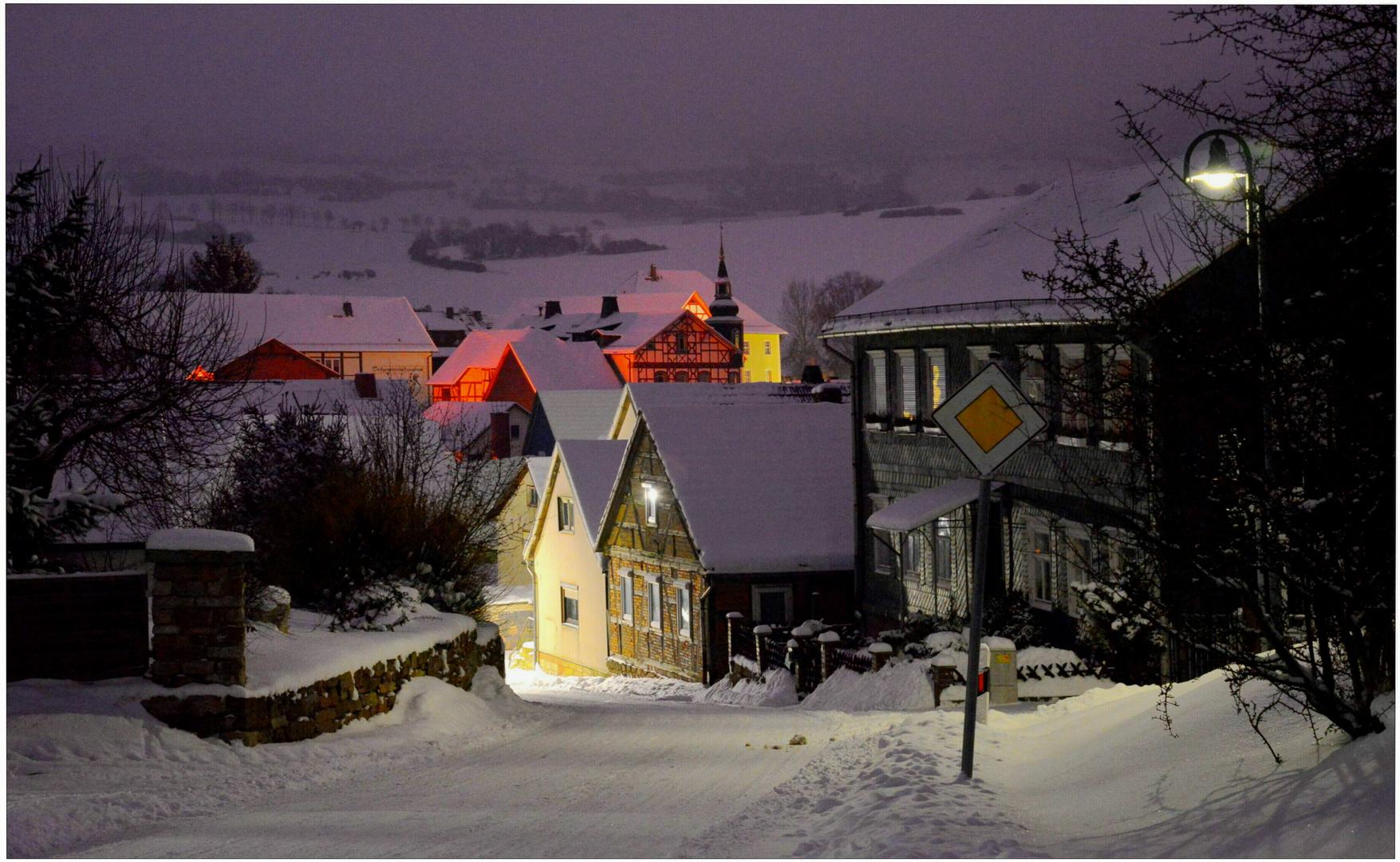 por la noche en mi pueblo (nachts im Dorf)