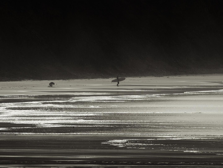 Por olas al despuntar el dia