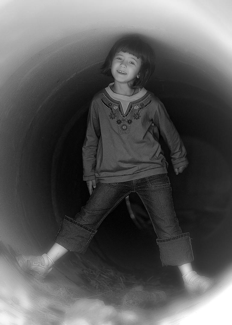 Por un tubo