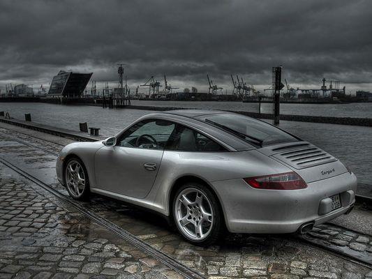 Porsche 911 Targa, Hamburg Hafen