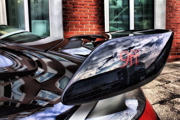 Porsche 9ff Spiegelung