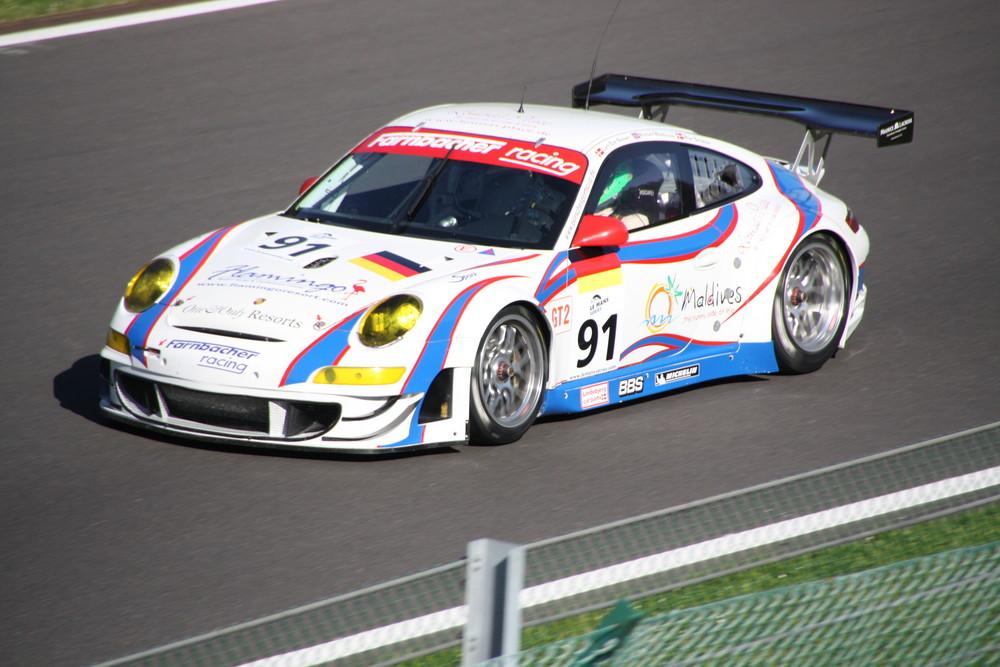 Porsche bei den 1000 km von Spa 2008