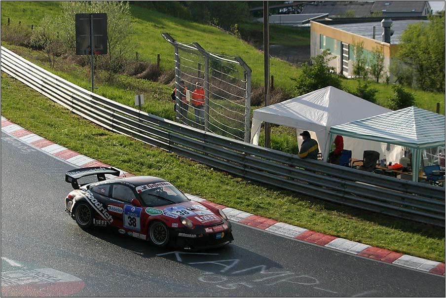 Porsche im Vorbeiflug