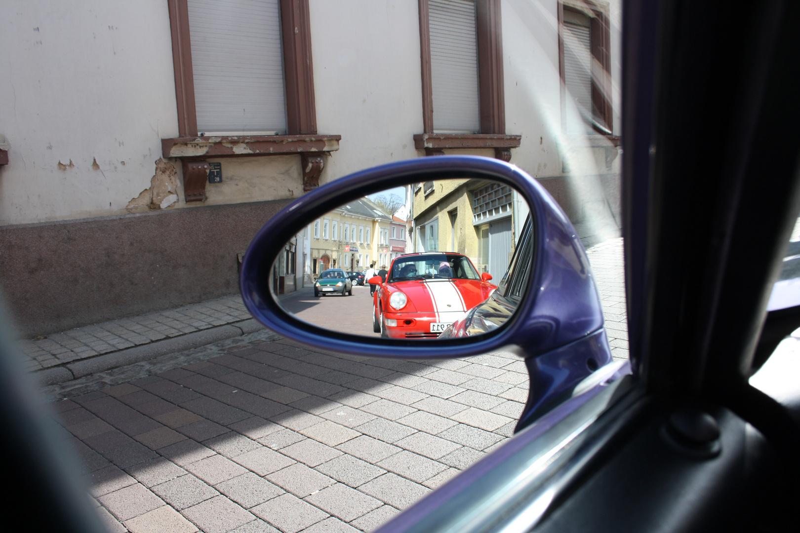 Porsche in meinen Spiegel