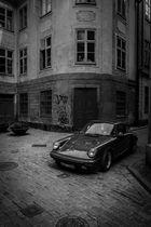 Porsche in old town