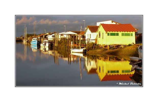 Port de Mornac après l'orage
