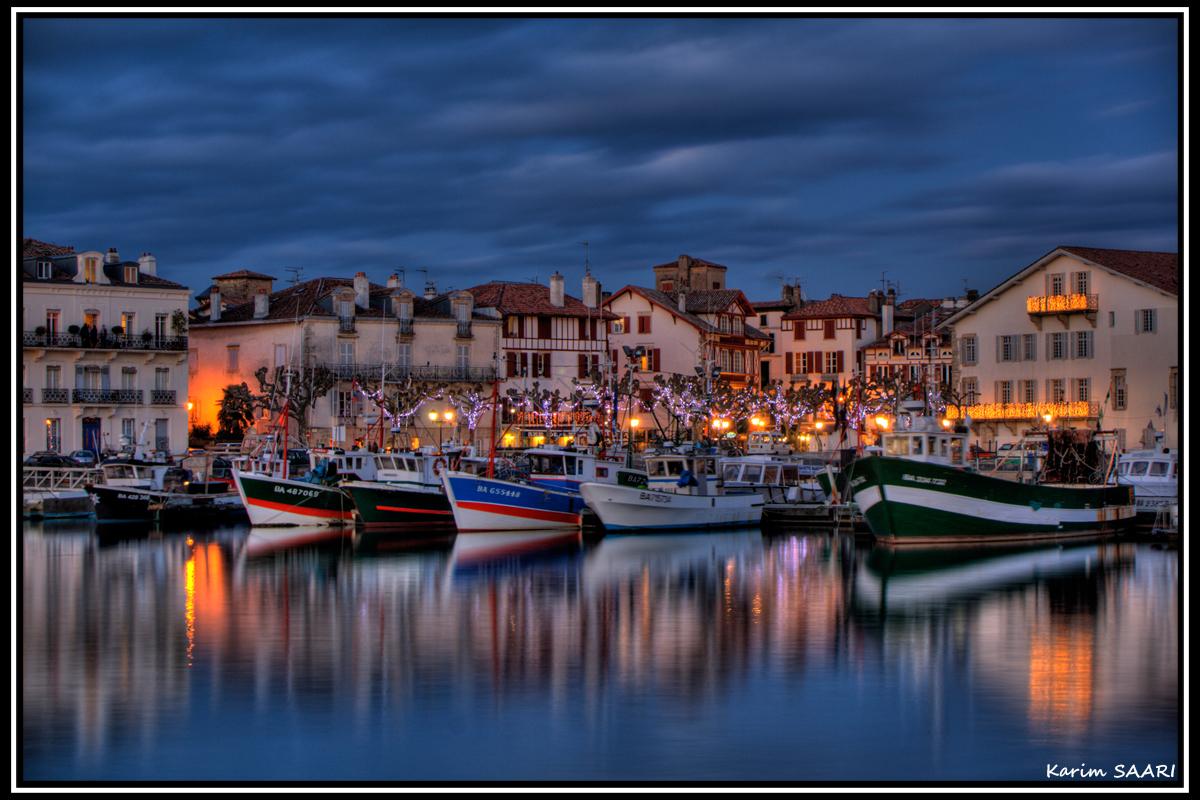 Port de Saint jean de Luz au pays basque