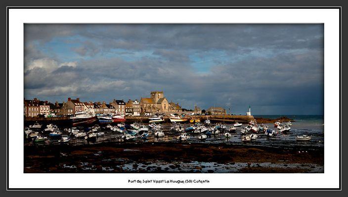 Port de Saint Vaast la Hougue après l'orage