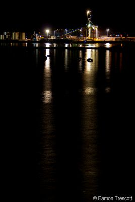 Port of Townsville Qld Australia by night 2