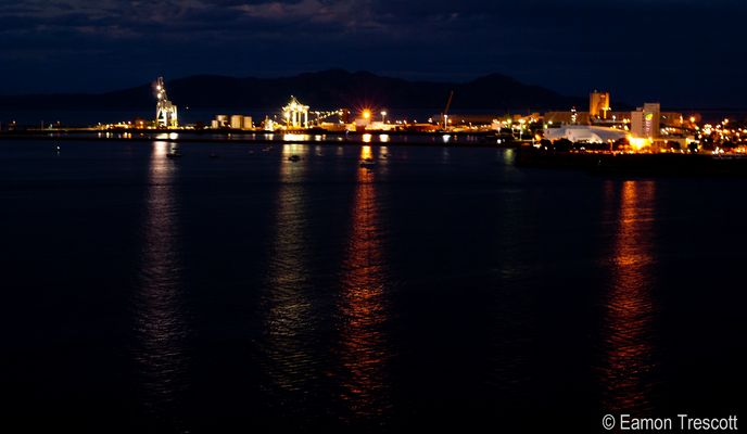 Port of Townsville Qld Australia by night