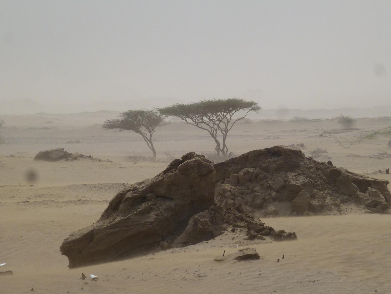 Port Sudan im Sandsturm